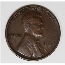 1924-D LINCOLN CENT XF KEY COIN 1924-D LINCOLN CENT XF KEY COIN. ESTIMATE: $110-$150