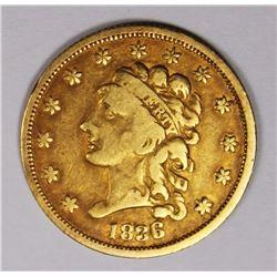 1836 $2.50 GOLD CLASSIC HEAD NICE VF+