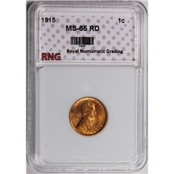 1915 LINCOLN CENT RNG GRADED GEM BU+ RED 1915 LINCOLN CENT RNG GRADED GEM BU+. RED. SCARCE. ESTIMATE