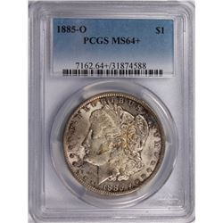1885-O MORGAN SILVER DOLLAR PCGS MS64+ COLOR 1885-O MORGAN SILVER DOLLAR PCGS MS64+ COLOR! ESTIMATE: