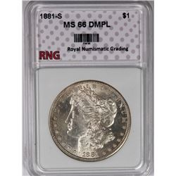 1881-S MORGAN SILVER DOLLAR RNG SUPERB BU DMPL 1881-S MORGAN SILVER DOLLAR RNG SUPERB BU DMPLE. STUN