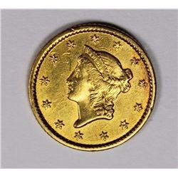 1849 $1.00 GOLD AU/UNC NICE! 1849 $1.00 GOLD AU/UNC NICE! ESTIMATE: $275-$350