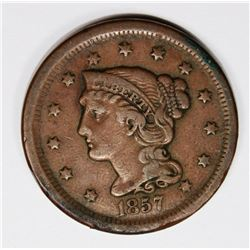 1857 LARGE CENT SMALL DATE VF RARE! 1857 LARGE CENT SMALL DATE VF RARE! ESTIMATE: $250-$350