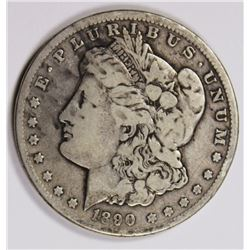 1890-CC MORGAN SILVER DOLLAR FINE SEMI-KEY. 1890-CC MORGAN SILVER DOLLAR FINE SEMI-KEY. ESTIMATE: $1
