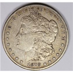 1878-CC MORGAN SILVER DOLLAR XF SEMI-KEY 1878-CC MORGAN SILVER DOLLAR XF SEMI-KEY. ESTIMATE: $175-$2