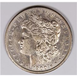 1900-S MORGAN SILVER DOLLAR NICE AU SEMI-KEY 1900-S MORGAN SILVER DOLLAR NICE AU SEMI-KEY. ESTIMATE: