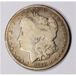 1893-CC MORGAN SILVER DOLLAR VG KEY COIN! 1893-CC MORGAN SILVER DOLLAR VG KEY COIN! ESTIMATE: $300-$