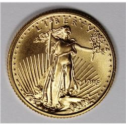 1995 1/10 OZ AMERICAN GOLD EAGLE GEM BU 1995 1/10 OZ AMERICAN GOLD EAGLE GEM BU. ESTIMATE: $200-$300