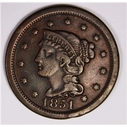 1851/81 LARGE CENT VF-XF 1851-81 LARGE CENT VFXF. ESTIMATE: $175-$200