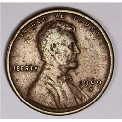 1909-S LINCOLN CENT VF KEY COIN 1909-S LINCOLN CENT VF KEY COIN. ESTIMATE: $130-$150