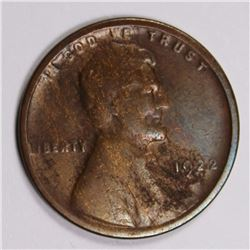 "1922 ""NO D""  LINCOLN CENT VG KEY COIN 1922 ""NO D""  LINCOLN CENT VG KEY COIN. ESTIMATE: $500-$600"