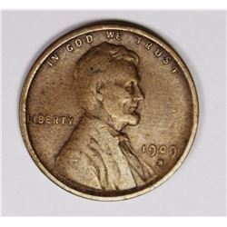 1909-S VDB LINCOLN CENT VF/XF COIN. NICE! 1909-S VDB LINCOLN CENT VF/XF COIN. NICE! ESTIMATE: $750-$