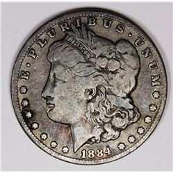 1884-CC MORGAN SILVER DOLLAR VG 1884-CC MORGAN SILVER DOLLAR VG SCARCE. ESTIMATE: $150-$200