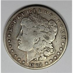 1902-S MORGAN SILVER DOLLAR VG KEY COIN 1902-S MORGAN SILVER DOLLAR VG KEY COIN. ESTIMATE: $125-$150