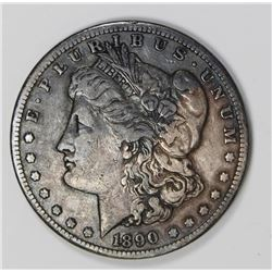 1890-CC MORGAN SILVER DOLLAR VF+ NICE! 1890-CC MORGAN SILVER DOLLAR VF+ NICE! ESTIMATE: $110-$130