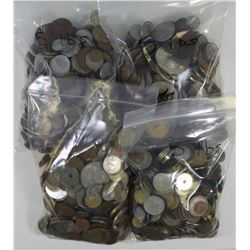 20 POUNDS OF UNSEARCHED FOREIGN COINS. 20 POUNDS OF UNSEARCHED FOREIGN COINS. CAME TO US IN A LARGE