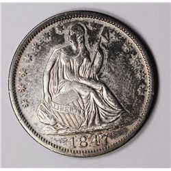 1847-O SEATED HALF DOLLAR CH AU SCARCE 1847-O SEATED HALF DOLLAR CH AU SCARCE! ESTIMATE: $600-$700