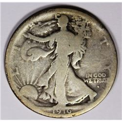 1916-S WALKING LIBERTY HALF DOLLAR VG KEY COIN 1916-S WALKING LIBERTY HALF DOLLAR VG KEY COIN. ESTIM