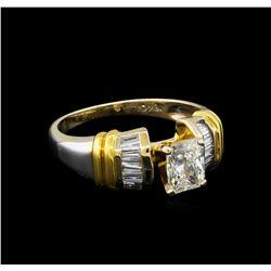 GIA Cert 1.26 ctw Diamond Ring - 18KT Two-Tone Gold