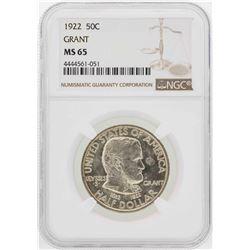 1922 Grant Memorial Commemorative Half Dollar Coin NGC MS65