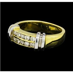 0.37 ctw Diamond Ring - 14KT Yellow and White Gold