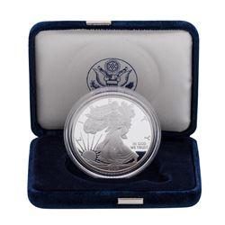 2008-W $1 American Silver Eagle 1 oz Fine Silver Bullion Proof Coin w/Box