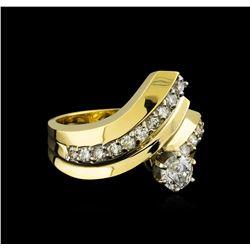 1.03 ctw Diamond Ring - 14KT Yellow Gold