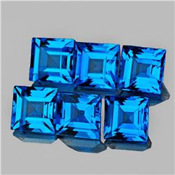Natural AAA Swiss Blue Topaz {Flawless-VVS1}
