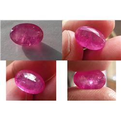 Natural Kashmir Pink Sapphire 8.65 cts - GRS Certified
