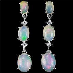 NATURAL AAA WHITE OPAL Earrings