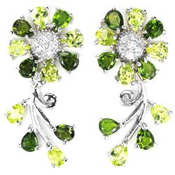 NATURAL GREEN CHROME DIOPSIDE PERIDOT Earrings