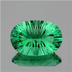 Natural ConCave Cut Emerald Green Fluorite 10.22 Ct FL