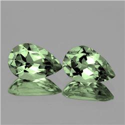 Natural Brilliant Green Amethyst Pair 15x10 MM - FL