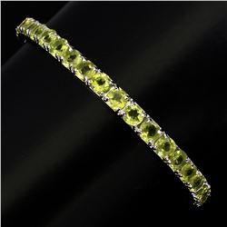 Natural  Round 5mm Top Rich Green Peridot Bangle