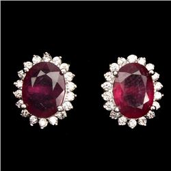 Genuine Top Blood Red Ruby Earrings