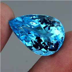 Natural Swiss Blue Topaz 28.21 Carats - FL