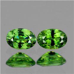 Natural AAA Premium Green Demantoid Pair 5 MM - FL