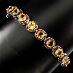 Natural Top Rich Yellow Citrine Bracelet