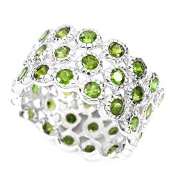 Natural Top Rich Green Chrome Diopside Ring