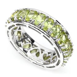 Natural 5x3mm Top Rich Green Peridot Ring
