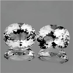 Natural Healing Colorless Quartz (Rock Crystal) Pair