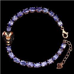 Natural Tanzanite & Black Spinel Cobra Bracelet