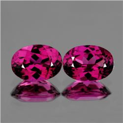 Natural Rhodolite Garnet Pair 7x5 Mm - VVS