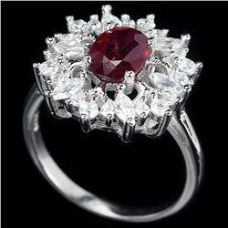 Genuine Vivid Red Ruby Ring