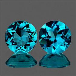 Natural Rare Brazil Blue Apatite Pair 7.00 MM - VVS