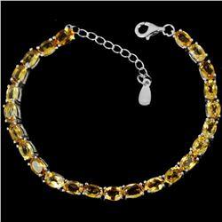 NATURAL AAA ORANGISH YELLOW CITRINE Bracelet