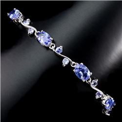 Natural Top Rich Blue Violet Tanzanite Bracelet