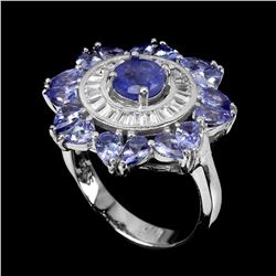 Natural Top Rich Blue Violet Tanzanite Ring