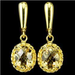 NATURAL AAA ORANGISH YELLOW CITRINE Earrings