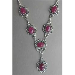 SPECTACULAR 71 CT NATURAL RUBY NECKLACE.
